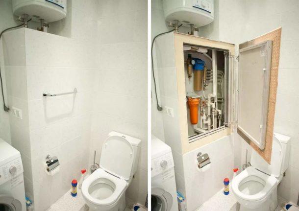 Закрываем трубы в туалете с помощью гипсокартона