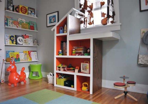 Оригинальные конструкции из гипсокартона в детской комнате