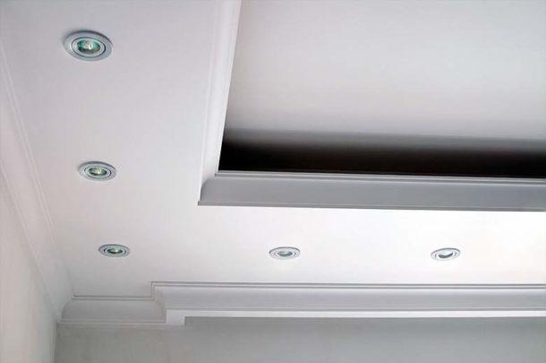 Потолочный короб из ГКЛ с подсветкой