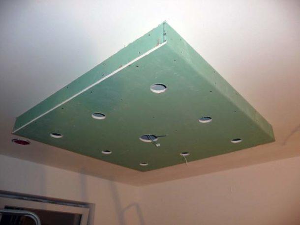Потолочная конструкция для размещения встроенных светильников