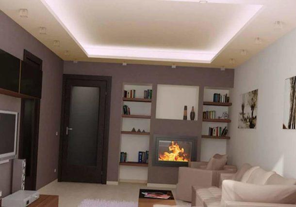 Оформление потолочной поверхности играет важную роль в визуальной коррекции пространства
