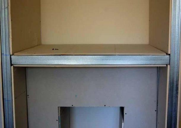 Крепление гипсокартона на каркас самодельного шкафа