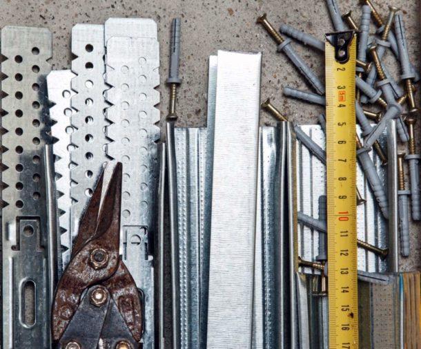 Материалы для монтажа потолочного короба из гипсокартона