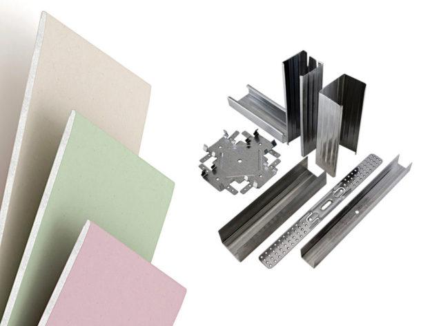 Материалы для создания гипсокартонной потолочной конструкции