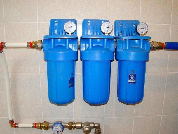 Система многоступенчатой очистки воды