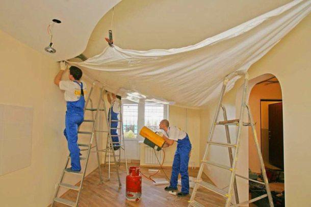 Монтаж натяжного потолка специалистами