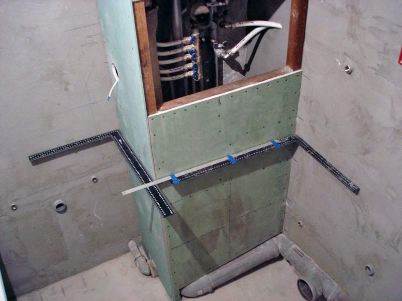Как сделать короб из гипсокартона для труб в туалете