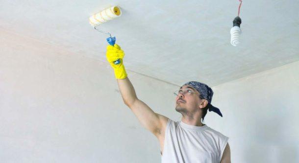Готовим потолок к окрашиванию водоэмульсионкой
