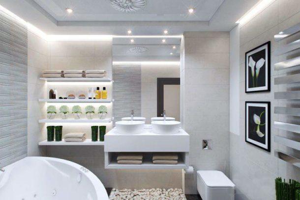 Красивые полки для ванной можно изготовить своими руками из гипсокартона