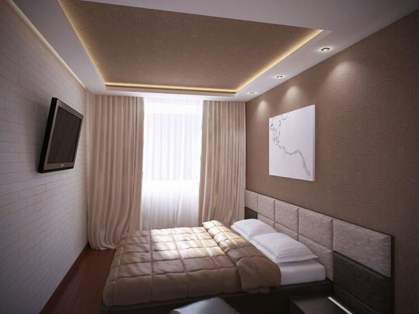 Потолок из ГКЛ для маленькой комнаты