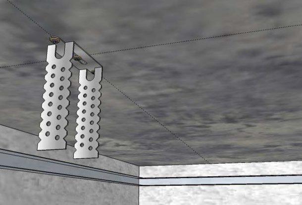 При монтаже подвесного потолка без специальных креплений не обойтись