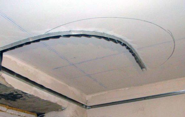 Разметка для каркаса потолочной гипсокартонной конструкции