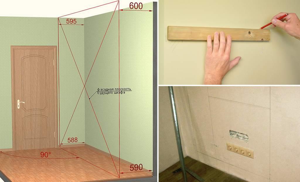 Как самому сделать шкаф из гипсокартон