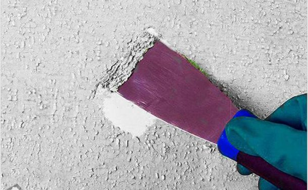 Удаление краски с помощью смывки