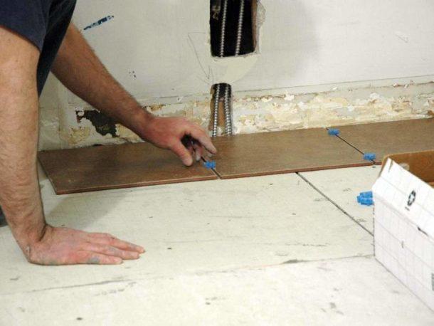 Укладка плитки на слой из ГВЛ