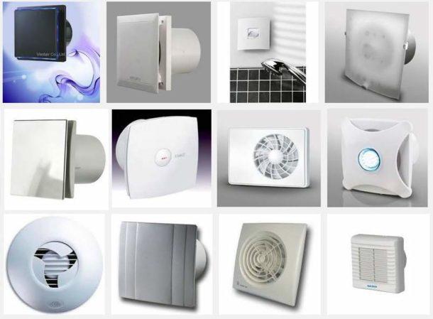 Разнообразие вентилятора для ванной