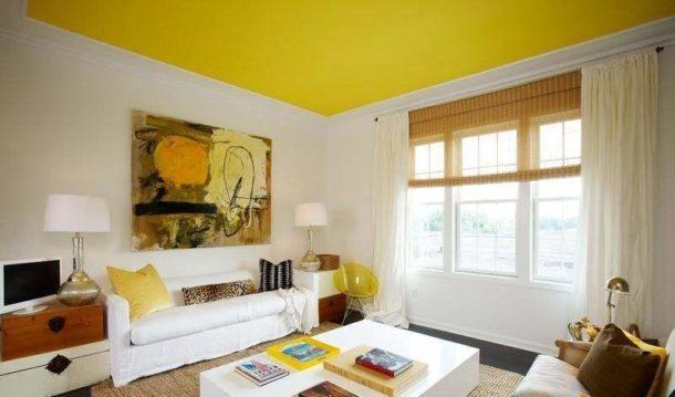 Яркий гипсокартонный потолок