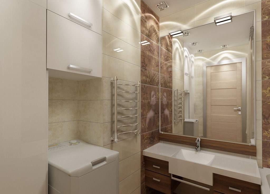 Дизайн раздельной маленькой ванной комнаты