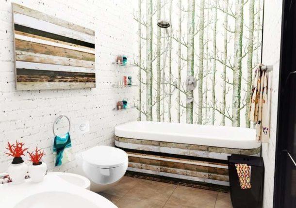 Декор в скандинавской ванной