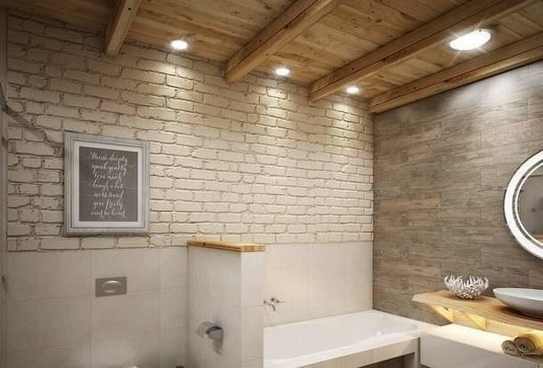 Деревянные балки на потолке добавят уюта