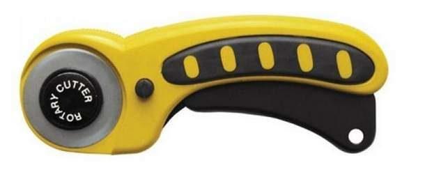Еще один вид дискового ножа (режущая кромка появляется при нажатии рукоятки)