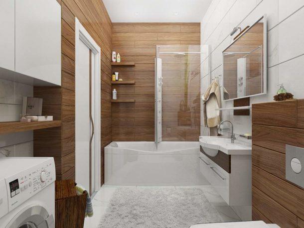 Имитация дерева в ванной - практичное решение