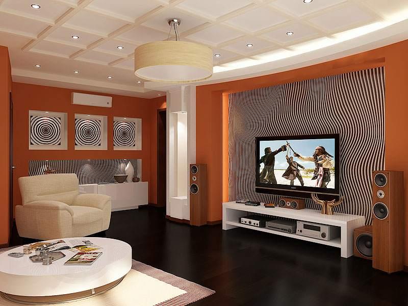 Дизайн интерьера гостиной ниши