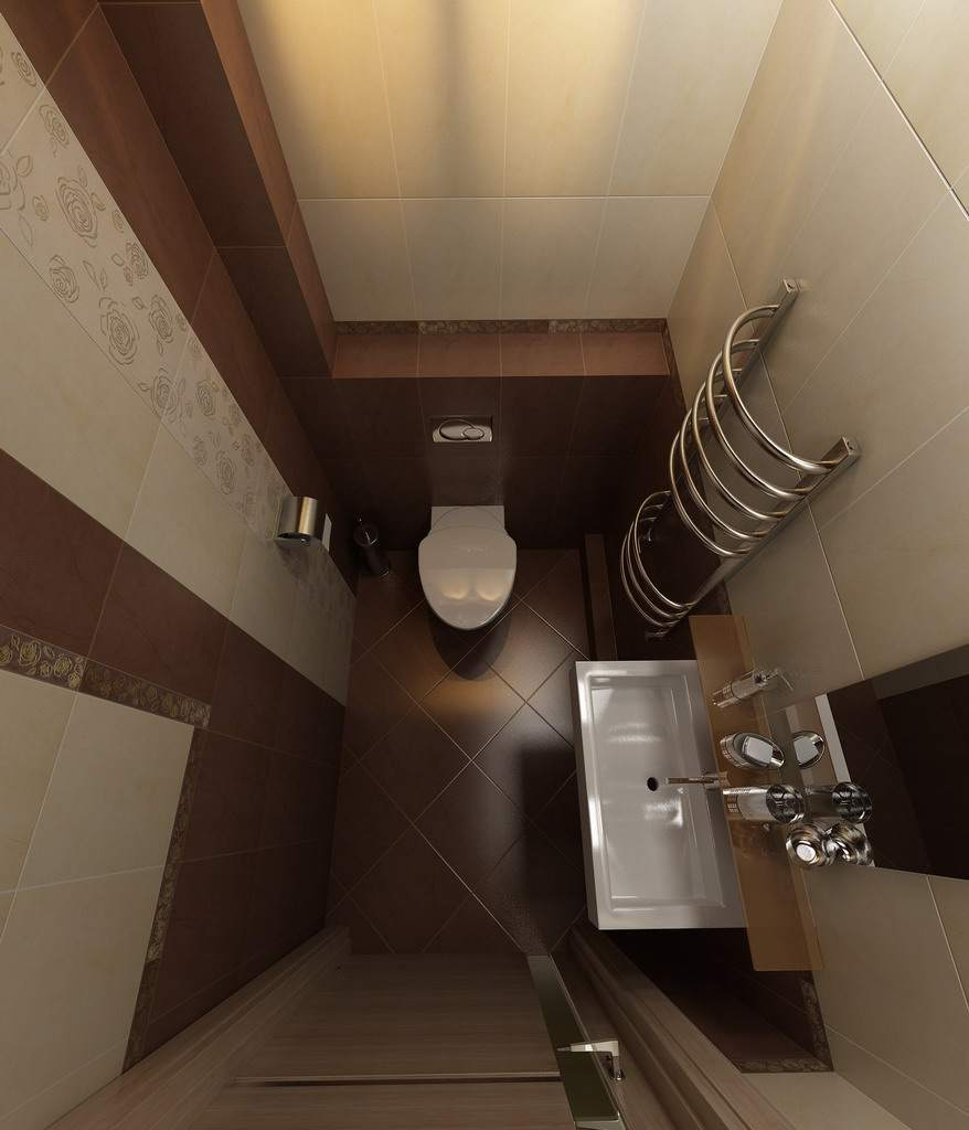 Дизайн туалета 2 квм без ванной с раковиной
