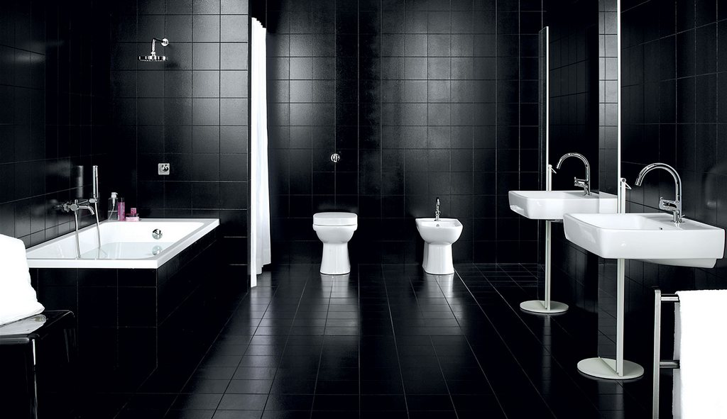 Modern bathroom toilet black