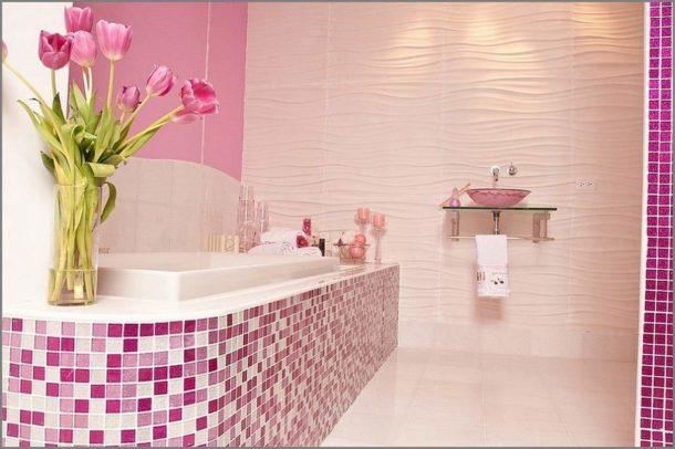 Популярное решение - облицовка бортика ванны