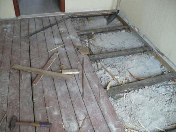 Плохое состояние древесины