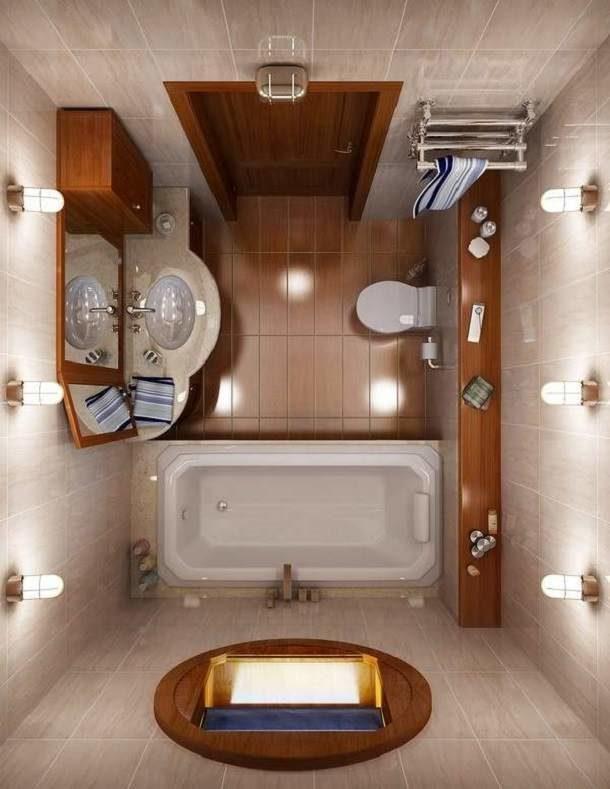 Оформление ванной комнаты в хрущевке