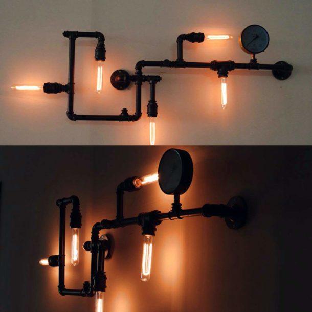 """""""Лофтовый"""" светильник, отлично передающий дух стиля"""