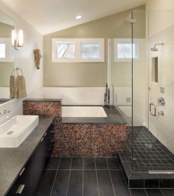 Отделка ванной комнаты без туалета водостойкой краской