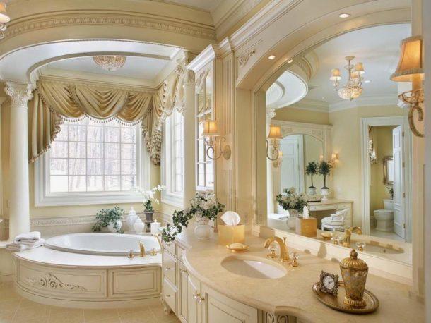 Полиуретановая лепнина в ванной