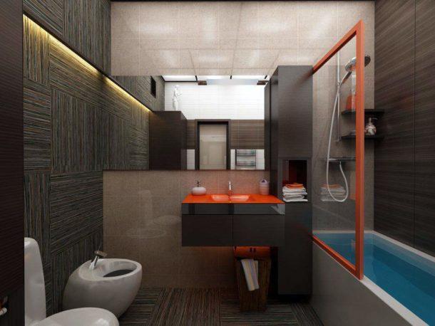Объединение ванной и туалета дает многие преимущества
