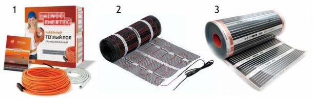 Несколько вариантов электрического обогрева пола