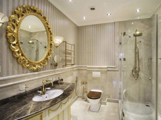 Сантехника в современной классической ванной