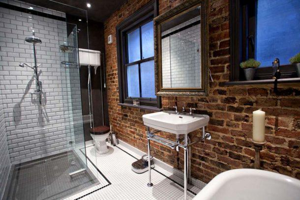 Сантехника в ванной в стиле лофт