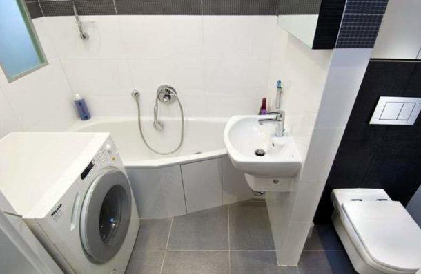 Ванная с туалетом после объединения