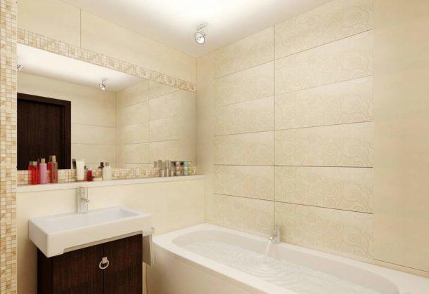 Светлая отделка и хорошее освещение сделают обстановку в ванной комфортной