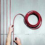 Укладка греющего кабеля