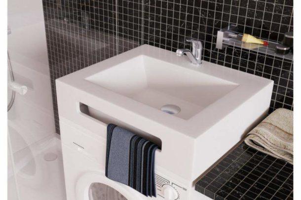 Раковина, специально предназначенная для установки на стиральной машинкой