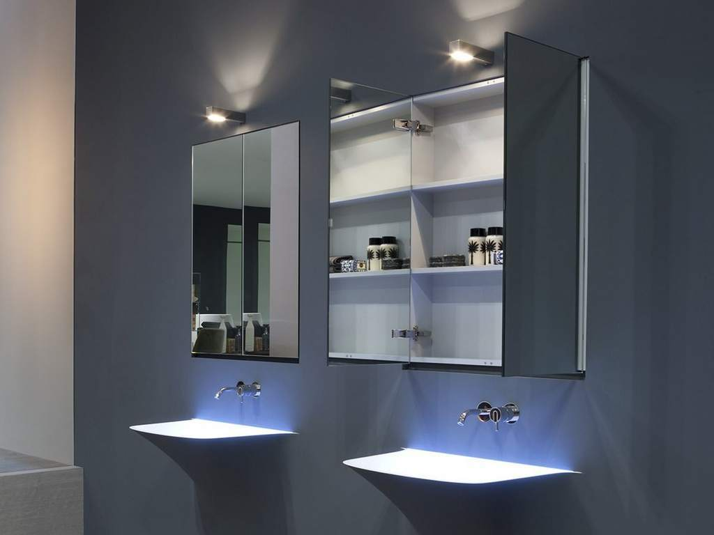 Modern bathroom mirror cabinets
