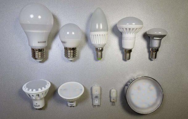 Формы колбы и типы цоколя для светодиодных ламп