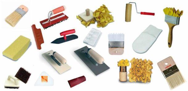 Инструменты для работы с декоративными покрытиями