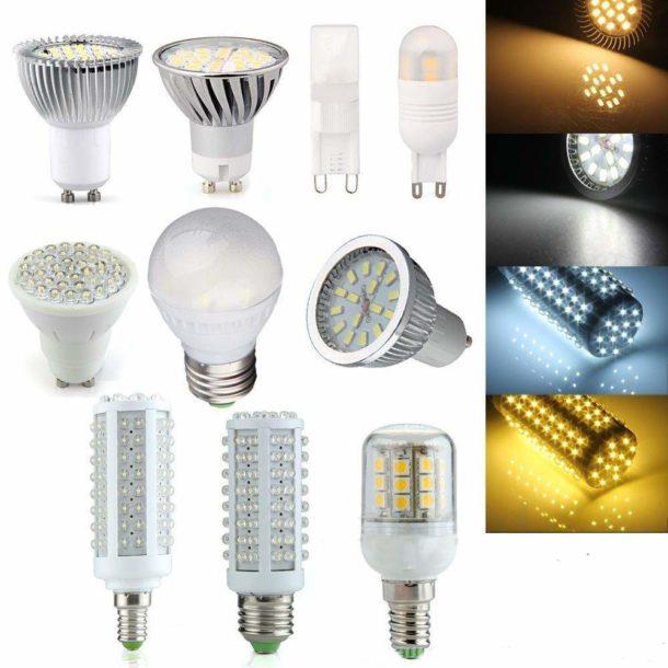 Многообразие светодиодных ламп