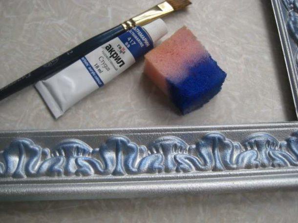 Окрашивание изделия акриловой краской