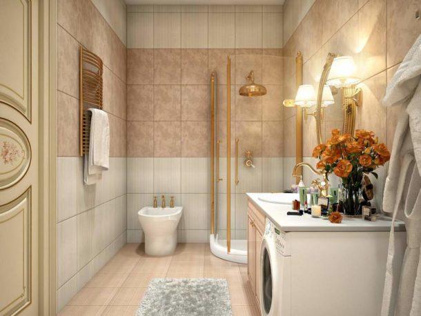 Совмещение туалета и ванной - разумное решение