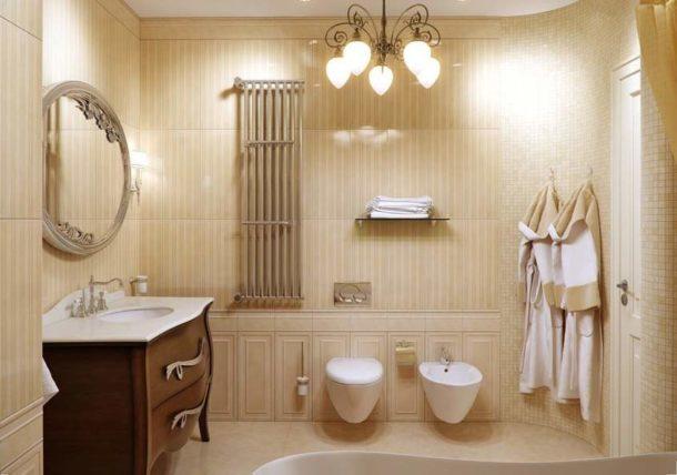 Светлые тона в ванной